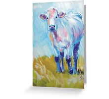 The Luminary - Acrylic Cow Painting Greeting Card