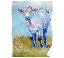 The Luminary - Acrylic Cow Painting Poster