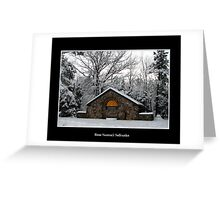Park Shelter in the snow Greeting Card