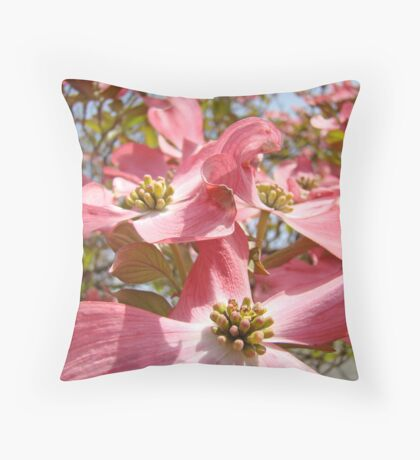 Floral Flowering Spring Dogwood Tree art Basleet Troutman Throw Pillow