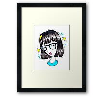 Hairflip Tina Framed Print