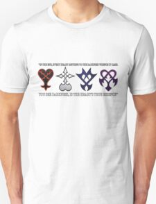 All Kingdom Hearts Enemies Unite! (With Quote) Unisex T-Shirt