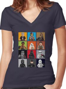 Lego The Force Awakens Women's Fitted V-Neck T-Shirt