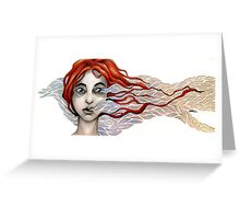 The Sky Moves Sideways Greeting Card