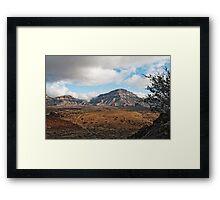 El Teide: Shadow Play Framed Print