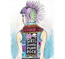 Girls Invented Punk Rock Photographic Print