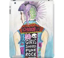 Girls Invented Punk Rock iPad Case/Skin