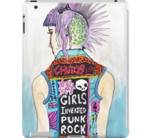 Girls Invented Punk Rock iPad Case/Skin
