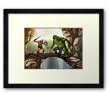 He-Man versus Whiplash Framed Print