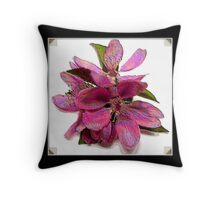 Still Life Blossoms ( Enamel Effect ) Throw Pillow
