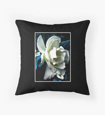 Camellia ( Blue Grass Effect ) Throw Pillow