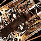 Industrial Crane in New York City (color) by LaNita Adams