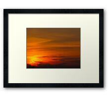 Bullet Sunset Framed Print