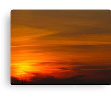 Bullet Sunset Canvas Print