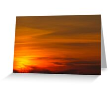 Bullet Sunset Greeting Card