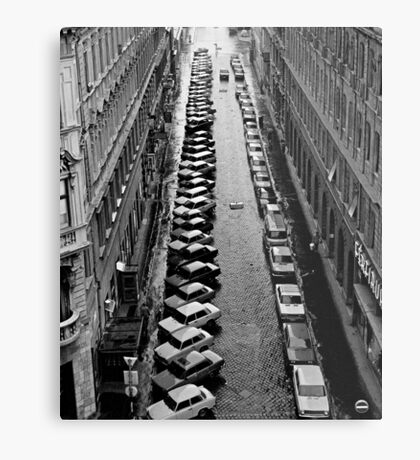 Budapest streetscape after the rain Metal Print
