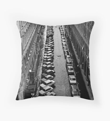 Budapest streetscape after the rain Throw Pillow