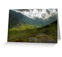 Craig Cau, Snowdonia, Wales Greeting Card