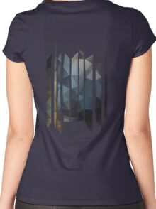 Triangle Forest Impression Women's Fitted Scoop T-Shirt