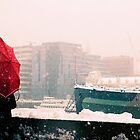 Snowy Day, South Bank, London by strangelight