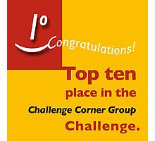 Top ten CCG banner Photographic Print