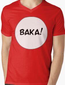 MANGA BUBBLES - BAKA! Mens V-Neck T-Shirt