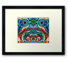 Psychedelic Cow Kisses Framed Print