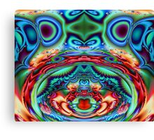 Psychedelic Cow Kisses Canvas Print