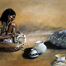 Hopi pottery maker by Astrid de Cock