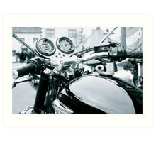 The View From The Handlebars Art Print