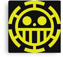 trafalgar law pirates logo Canvas Print