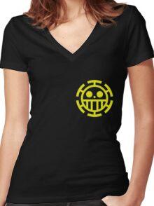 trafalgar law pirates logo Women's Fitted V-Neck T-Shirt