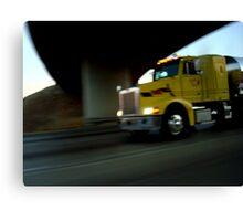 Truck snapshot - CA, USA Canvas Print