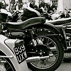 Vintage Bikes In Line by Lou Wilson