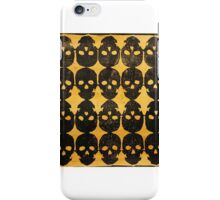 Mirrored Skull on Gold iPhone Case/Skin