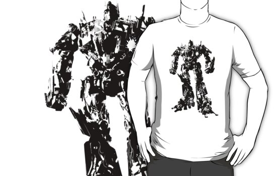 Optimus Prime Splatter Silhouette  by Animenace