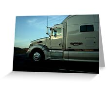 Truck snapshot - CA, USA Greeting Card