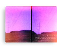 Lomo, Power Lines - Denmark  Canvas Print