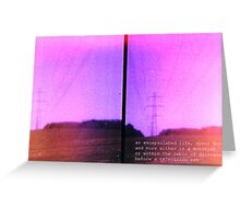Lomo, Power Lines - Denmark  Greeting Card