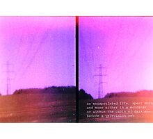 Lomo, Power Lines - Denmark  Photographic Print