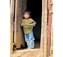 Face of Poverty Photographic Print