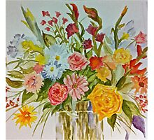 Flowers in a vase Photographic Print