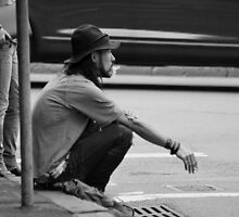 Street Smoker on a Sydney Corner. by Stan Owen