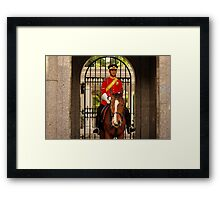 Mounted Guard Framed Print