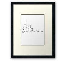 Cannabis THC Molecule Framed Print