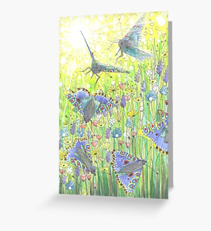 Fly-by Butterfly Greeting Card