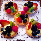 """Glazed Fruit Tarts"" by franticflagwave"