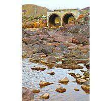 Below the Dam Photographic Print