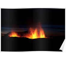 Volcano Eruption in Iceland 2010 Poster