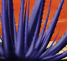Blue Agave Paint by KathiSPerez